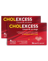 Cholexcess lot de 2 boîtes de 60 gélules - levure de riz rouge