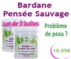 bardane pensée sauvage 150 gélules