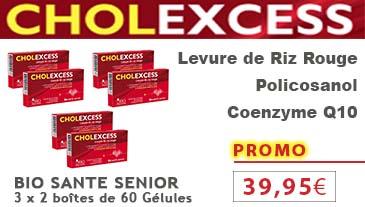 Bio santé sénior Cholexcess levure de riz rouge