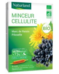 Naturland MINCEUR CELLULITE Bio Marc de raisin Piloselle 20 ampoules de 10ml