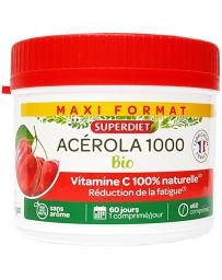 Super Diet Acérola Bio 1000 Vitamine C maxi pot 60 comprimés