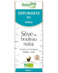 Herbalgem Dépurasève Bio Sève de Bouleau Flacon 250 ml draineur detox inter-saison Pharma5avenue
