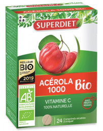 Super Diet Acérola 1000 BIO 24 comprimés vitamine C 170mg Pharma5avenue