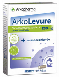 Arkopharma Arkolevure Levure boulardii Saccharomyces boulardii 30 gélules probiotiques digestifs Pharma5avenue