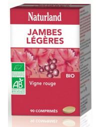 Naturland Vigne rouge Jambes légères 90 comprimés bio