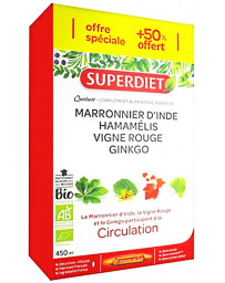 Super Diet Quatuor Circulation Bio 20 ampoules +10 offertes, 30 ampoules de 15ml Pharma5avenue