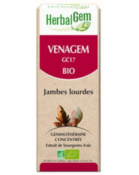 Herbalgem Venagem Bio Flacon 50 ml bourgeons bio, Sorbier, de Marronnier, et de Châtaignier. Pharma5avenue