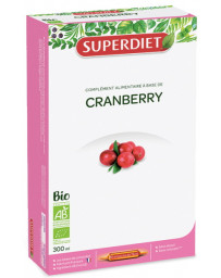Super Diet Cranberry Bio 20 ampoules de 15ml Canneberge Vaccinium macrocarpon - fruit Pharma5avenue