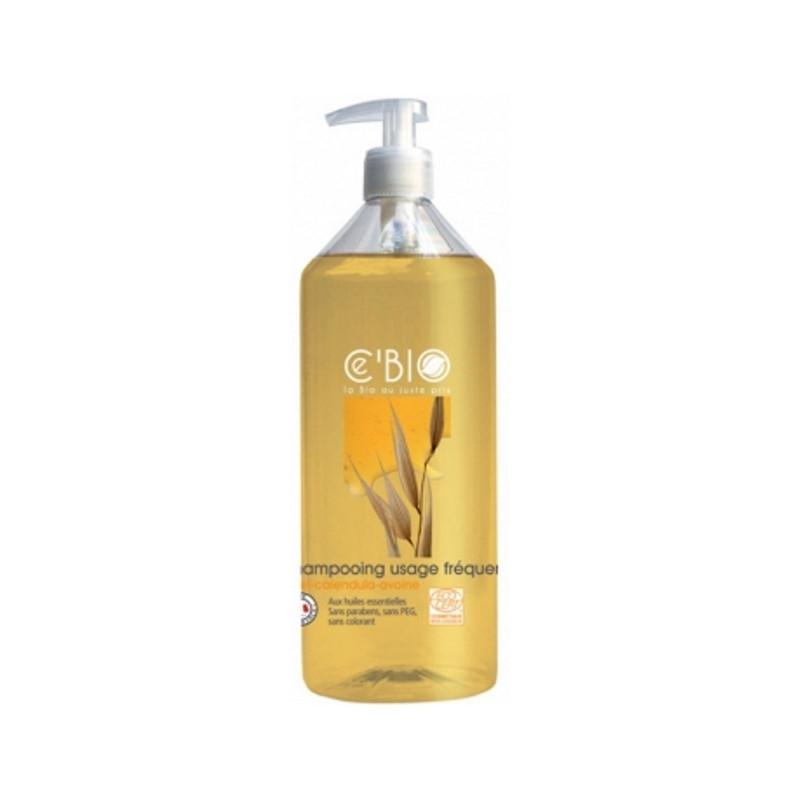 C'BIO Shampooing usage fréquent Miel Calendula Avoine 500ml usage quotidien Pharma5avenue