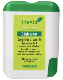 Guayapi Stévia Rebaudioside A98 400 comprimés pouvoir sucrant sans calories Pharma5avenue