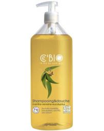 C'BIO Shampooing douche 2 en 1 Menthe Verveine Eucalyptus 500 ml shampoing bio Pharma5avenue