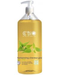 C'BIO Shampooing cheveux gras Argile Ortie 500 ml régule les cheveux gras excès de sébum Pharma5avenue