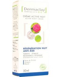 Dermaclay Crème active nuit régénération anti âge 50 ml anti-rides Pharma5avenue