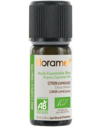 Florame Huile essentielle bio Citron expressé 10ml detox vitalité digestion Pharma5avenue