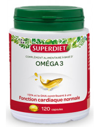 Super Diet Omega 3 - 120 capsules DHA EPA acides gras essentiels Pharma5avenue
