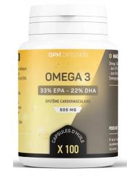 GPH Diffusion Omega 3 100 capsules de 505mg DHA et EPA AGE Pharma5avenue