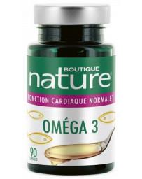 Boutique Nature Omega 3 - 90 capsules DHA EPA coeur activité cardiaque Pharma5avenue