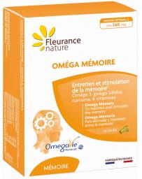 Fleurance Nature Oméga Mémoire 30 gélules et 30 capsules ginkgo curcuma oméga 3 Pharma5avenue