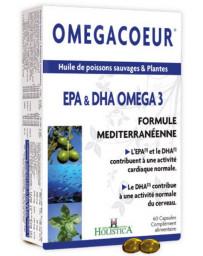 Holistica Omegacoeur EPA DHA Ail 60 capsules oméga 3 coeur vaisseaux sanguins métabolisme Pharma5avenue