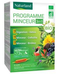 Naturland - detox - draineur minceur - bruleur de graisses - Programme Minceur Bio - Pack Promo 3 en 1