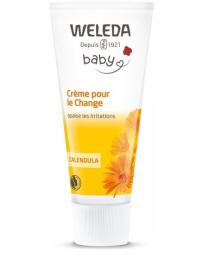 Weleda Crème pour le change bébé Calendula sans parfum 75ml, cosmétique bio bébé