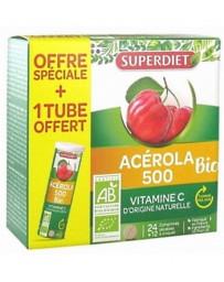 Super Diet Acérola 500 bio 1 tube OFFERT - 36 comprimés tonus vitamine C Pharma5avenue