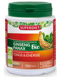 Super Diet Ginseng Bio Tonus et énergie 150 gélules anti-fatigue anti-stress Pharma5avenue