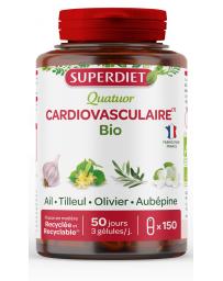 Super Diet Quatuor Ail Olivier Tilleul Aubepine 150 gelules support cardiovasculaire Pharma5avenue