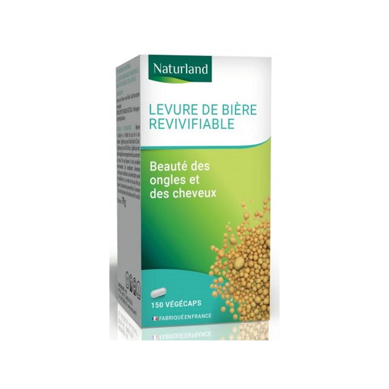 Levure de Bière Vivante Revivifiable 150 gelules Végécaps Naturland Pharma5avenue