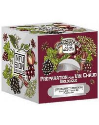 Provence d'Antan Préparation bio pour Vin chaud Recharge de 24 sachets montagne ski énergie Pharma5avenue