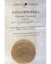 Terres dorées Shampoing solide Cheveux normaux 100 pour cent végétal 60 gr écologique Pharma5avenue