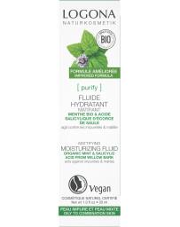 Fluide hydratant clarifiant jour et nuit Menthe bio / Acide salicylique 30 ml Logona - cosmétique biologique