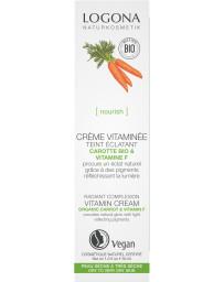 Crème vitaminée embellisseur de teint Carotte bio et vitamine F 30 ml Logona - cosmétique biologique