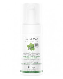 Mousse nettoyante Menthe bio / Acide salicylique 100 ml Logona - cosmétique biologique