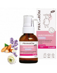 Pranarôm Huile de massage Sommeil bio PRANABB 30 ml sérénité calme de bébé Pharma5avenue