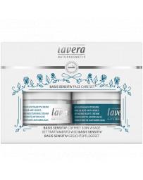 Lavera Coffret Soin du visage BASIS SENSITIV Jour et Nuit coenzyme Q10 anti-âge anti-rides Pharma 5 avenue
