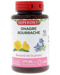 Super Diet Huiles Onagre bio & Bourrache bio 200 capsules
