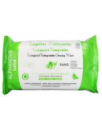 Alphanova 60 Lingettes nettoyantes à l'huile d'olive vierge bio écologiques peau sensible bébé Pharma5avenue