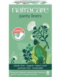 Pharma5avenue 30 protèges slip naturels incurvés 30 serviettes hygiéniques Natracare - produit d'hygiène féminine écologique
