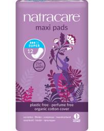 Pharma 5 avenue Serviettes périodiques Super Lot de 12 Natracare - lot de protections hygiéniques absorbantes