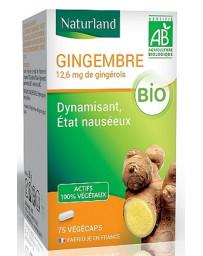 Naturland - Gingembre bio - 75 gélules végécaps vitalité Pharma5avenue