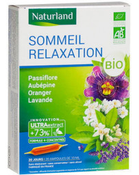 Naturland - Relaxation et Sommeil - 20 ampoules de 10 ml Passiflore Aubépine Oranger Lavande Pharma5avenue