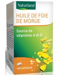 Naturland - Huile de foie de morue - 100 capsules Pharma5avenue