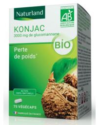 Konjac bio - Glucomannane - 75 gélules Végécaps - Naturland perte de poids Pharma5avenue