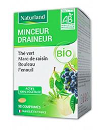 Naturland Thé Vert Marc de Raisin Bouleau Queue de Cerise Bio 90 comprimés