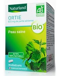 Ortie bio 75 Gélules Végécaps silicium organique Naturland reminéralisant Herboristerie de paris