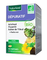 Naturland dépuratif Aubier de Tilleul Radis noir Pissenlit Artichaut 90 comprimés