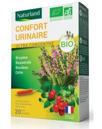 Naturland Confort urinaire Bruyère Busserole Bouleau Ortie Bio 20 ampoules homme et femme Pharma5avenue
