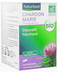 Naturland - Chardon Marie bio 75 gélules Végécaps confort hépatique Pharma5avenue