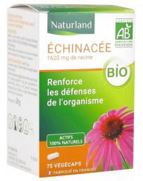 Naturland Echinacée bio 75 gélules végecaps Echinacea ,défenses Pharma5avenue